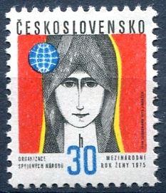 (1975) č. 2126 ** - ČSSR - Mezinárodní rok ženy
