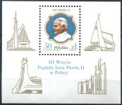 (1987) MiNo. 3101 ** - Poland - mini sheet 103 - The visit of John Paul II. Poland