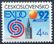 (1992) č. 3004 ** - ČSSR - Světová výstava EXPO 92 v Seville