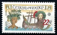 (1992) MiNr. 3114 ** - Tschechoslowakei - 500. Jahrestag der Entdeckung Amerikas - CEPT