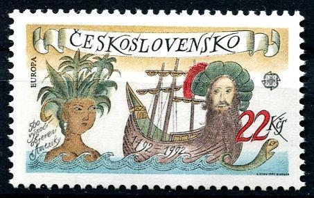 (1992) č. 3006 ** - ČSSR - 500. výročí objevení Ameriky - CEPT