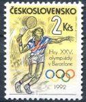 (1992) č. 3007 ** - Československo - XXV. letní olympijské hry v Barceloně