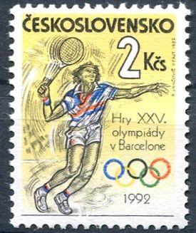 (1992) č. 3007 ** - ČSSR - XXV. letní olympijské hry v Barceloně