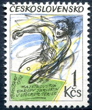 (1992) č. 3013 ** - ČSSR - ME juniorů ve stolním tenisu 1992