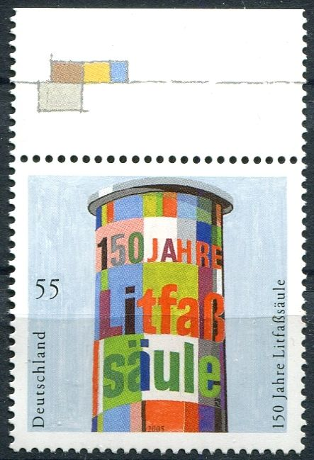 (2005) MiNr. 2444 ** - Německo - 150 Jahre Litfaßsäule