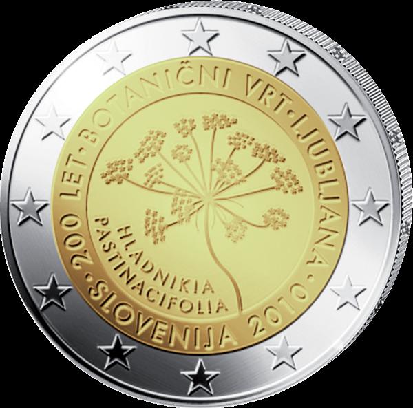 (2010) 2 € - Slovinsko - Lublaň - Botanická zahrada (UNC)