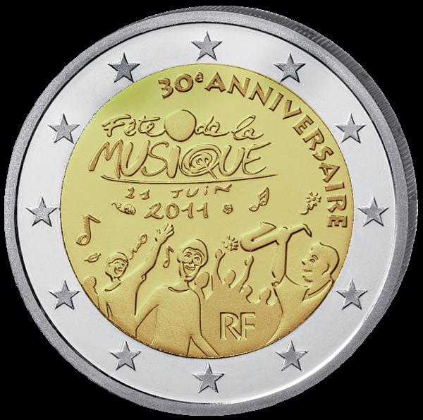 (2011) 2 € - Francie - Fete de la Musique (UNC)
