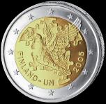 (2005) 2€ - Finland - 60 Years UN (UNC)