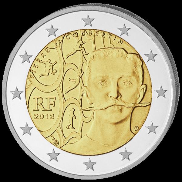 (2013) 2€ - Francie - Pierre de Coubertin (UNC)