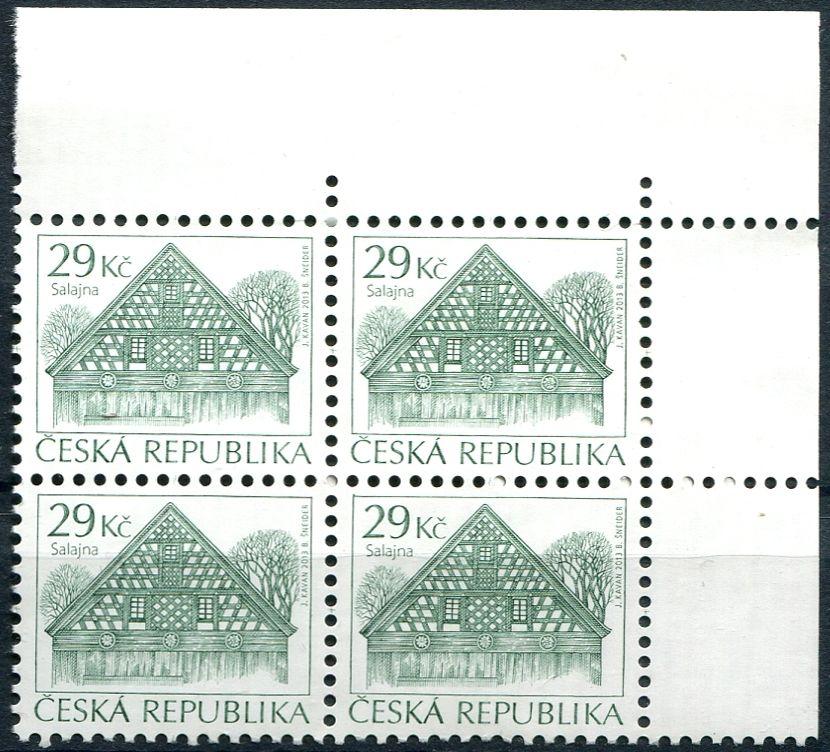 """(2013) č. 789 ** - Česká republika - Lidová architektura """"29Kč"""""""