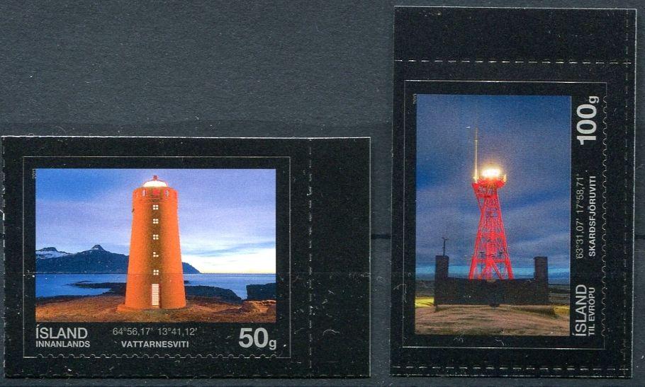 (2013) MiNr. 1400 - 1401 ** - Island - Majáky (III.)