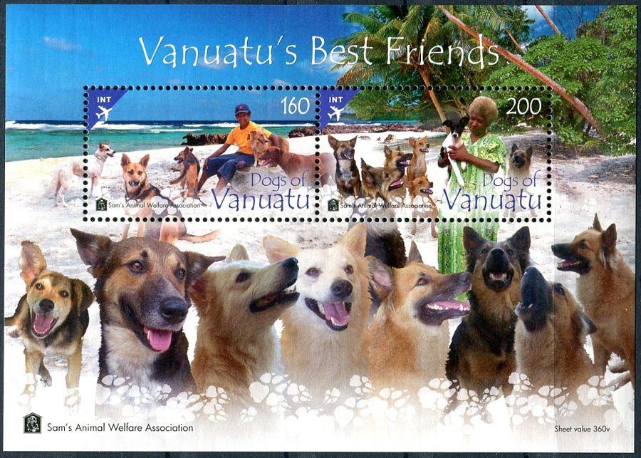 (2013) MiNr. 1494 - 1495 ** - Vanuatu BLOCK 73 - psi na Vanuatu