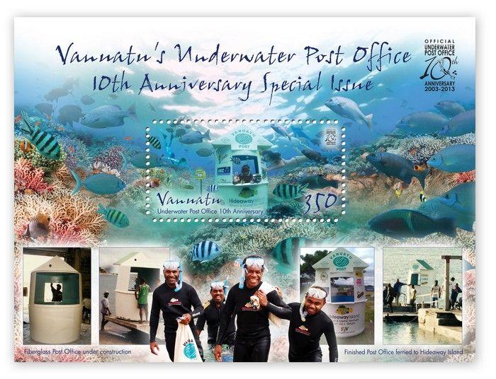 (2013) MiNr.  ** - Vanuatu - BLOCK  - 10. let podvodní pošty