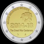(2014) - 2 € - Belgie - 100. výročí od začátku I. sv. války (UNC)