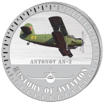 (2015) 5000F - Burundi - stříbrná - letadlo Antonov An-2 (proof)