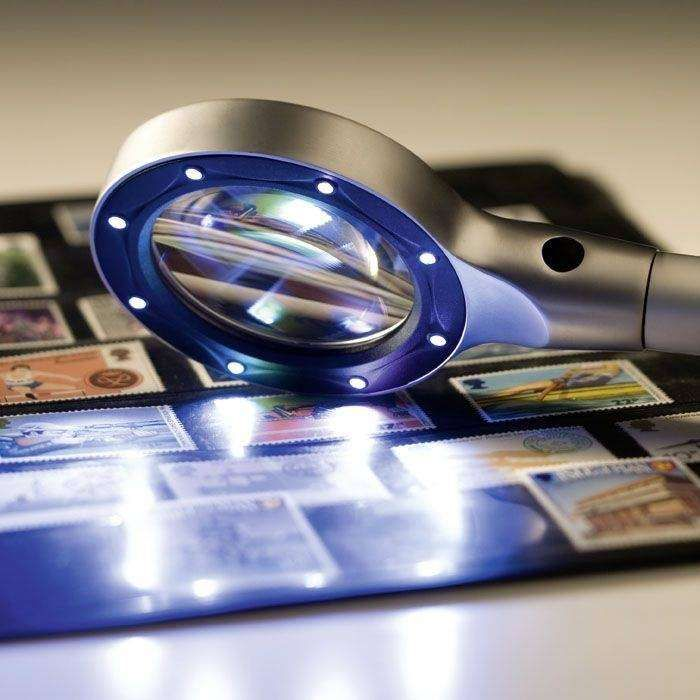 Lupa s LED osvětlením, zvětšení 2,5 x, průměr 55 mm